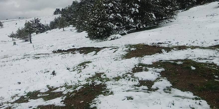 Amasya'nın Taşova ilçesinde Mayıs ayının son günlerinde kar 3