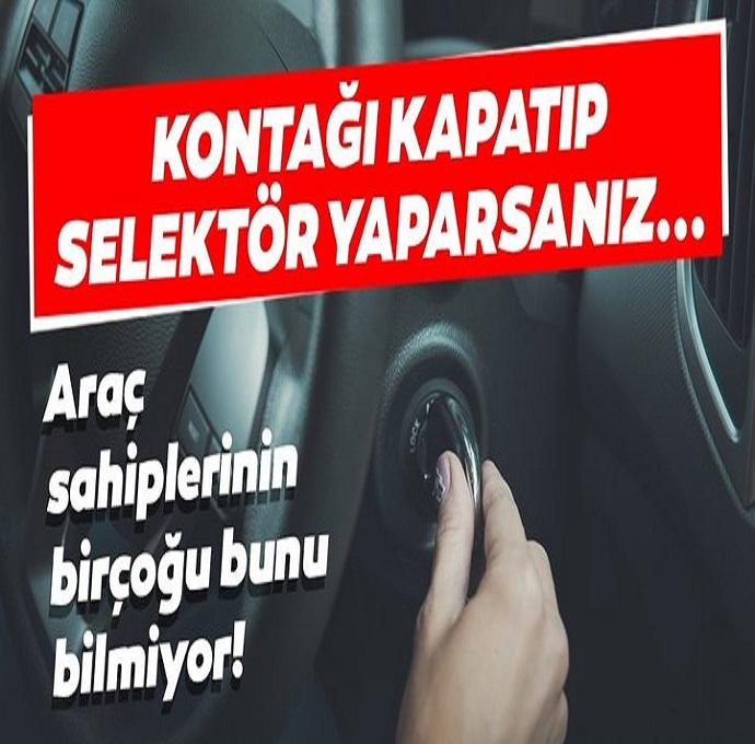 Araç sahiplerinin birçoğu bunu bilmiyor!