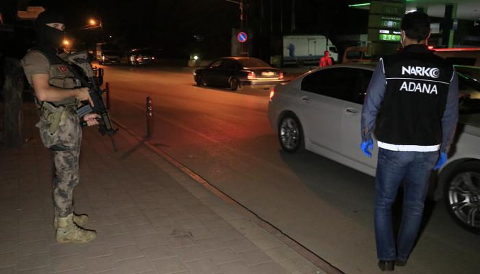 Adana'da 270 polisin katılımıyla hava destekli narkotik uygulaması