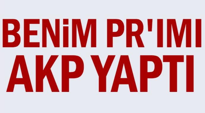 Ekrem İmamoğlu:Benim PR'ımı AKP yaptı