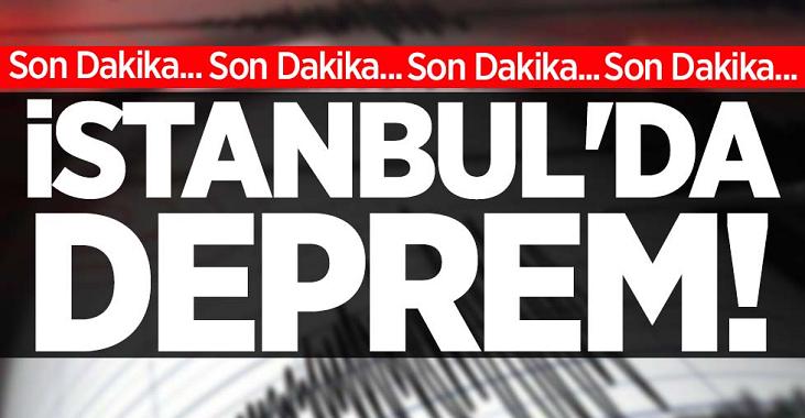 Son dakika: İstanbul'da 4.7 büyüklüğünde deprem! Son depremler...