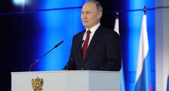 Rusya Başkanı Putin, Federal Meclis üyelerine sesleniyor