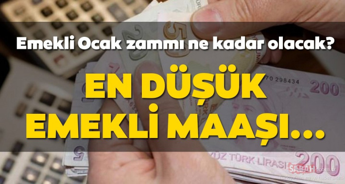 Emekliye Ocak zammı müjdesi! SSK ve Bağkur Emekli 2020 Ocak maaşı zammı ne kadar ve kaç TL olacak?