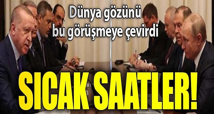 Cumhurbaşkanı Erdoğan- Putin görüşmesi tamamlandı