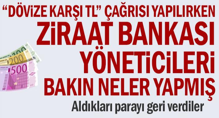 Dövize karşı TL çağrısı yapılırken Ziraat Bankası kardan pay aldı