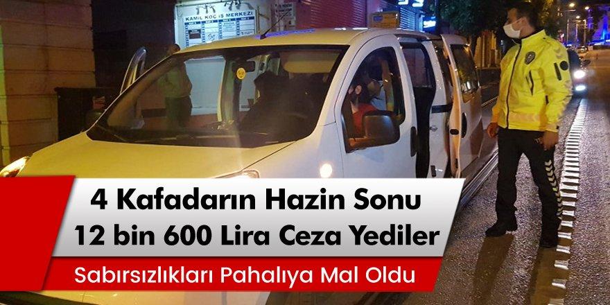 Bursa'da 4 kafadarın hazin sonu! Bitime Dakikalar Kala 12 bin 600 lira ceza yediler