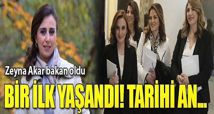 Zeyna Akar ilk kadın savunma bakanı oldu Tarihi değişim!