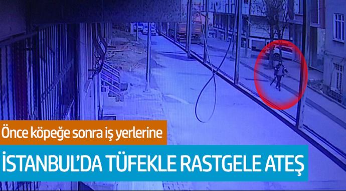 İstanbul'da Tüfekle Rastgele Ateş! Önce Köpeğe Son İş Yerlerine