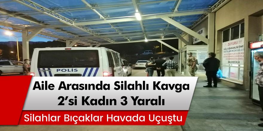 Tokat'ın Niksar ilçesinde 2 arasında silahlı kavga: 2'si kadın 3 yaralı