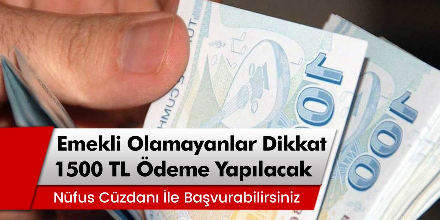 SGK'dan Müjdeli Haber Geldi! Emekli Olamayanlara 1500 Lira Maaş Desteği
