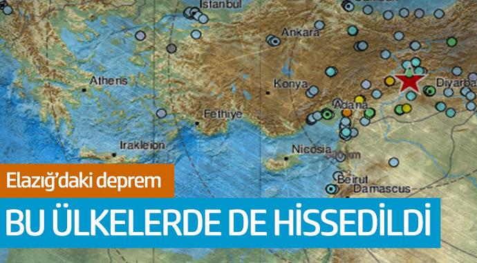 Elazığ'daki şiddetli deprem 6 ülke de hissedildi!
