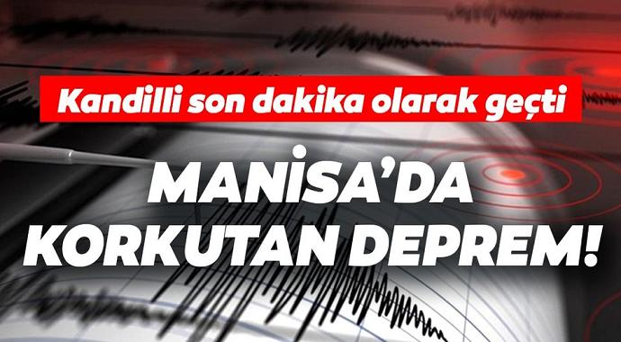 Kandilli Son Dakika Olarak Geçti! Manisa'da Peş Peşe Gelen Deprem
