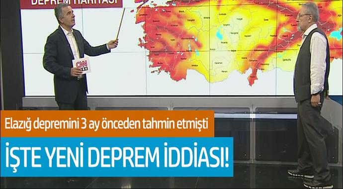 Elazığ depremini 3 ay önceden tahmin etmişti... İşte yeni deprem iddiası!