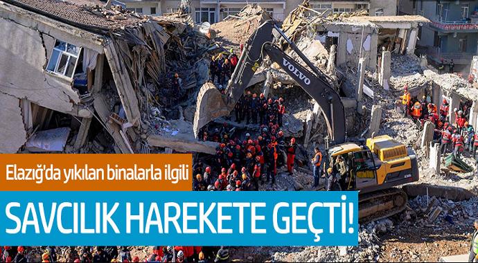 Elazığ'da yıkılan binalarla ilgili savcılık harekete geçti!