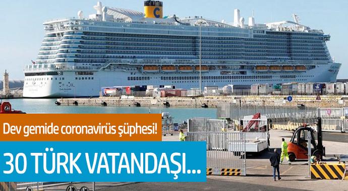 Dev gemide coronavirüs şüphesi! 6 bin kişilik gemi karantinaya alındı