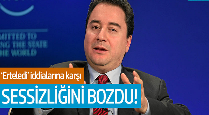 Ali Babacan erteledi iddialarına karşı sessizliğini bozdu!