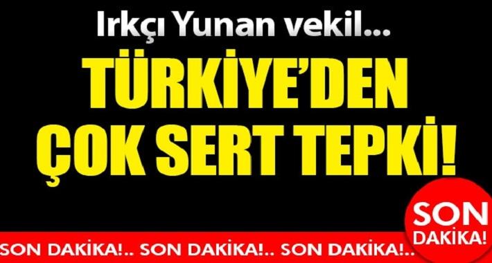 Türkiye'den ırkçı Yunan vekile sert tepki!
