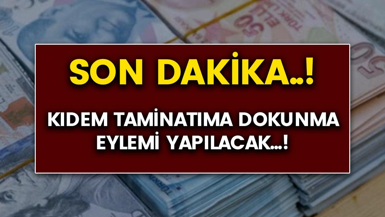 """Son dakika: DİSK """"Kıdem Tazminatıma Dokunma"""" eylemi yapacak..!"""