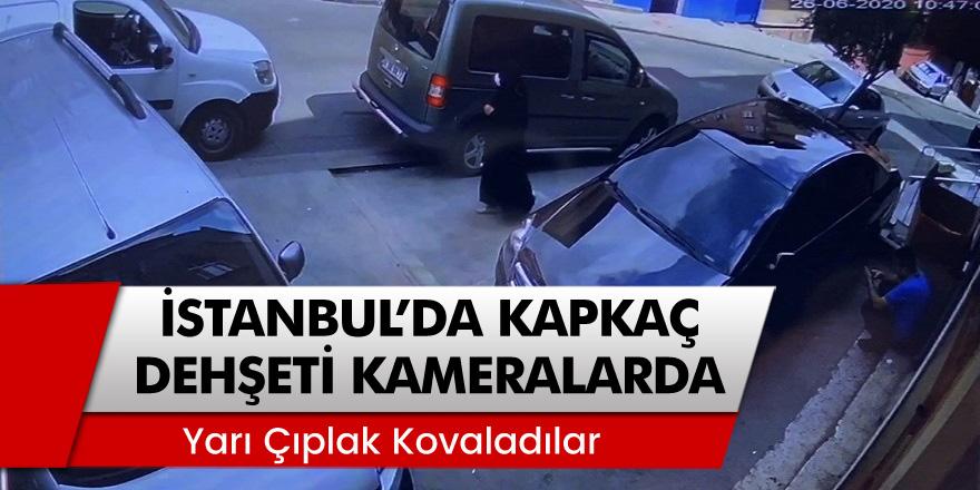 Beyoğlu'nda vatandaşların yarı çıplak kapkapççıları kovaladığı anlar kamerada yansıdı