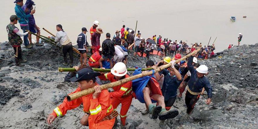 Arakan Kachin eyaletinde heyelanda ölenlerin sayısı 100'ü geçti