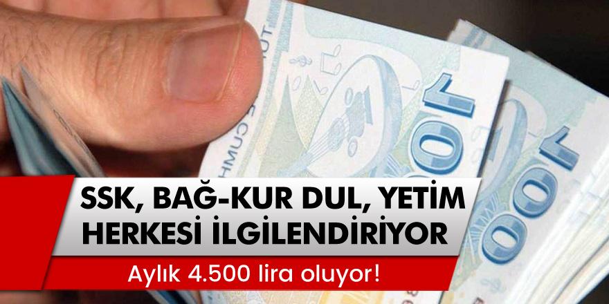 SSK, Bağ-Kur, Dul ve Yetim Maaşı Alan Herkesi İlgilendiriyor... Aylık 4.500 lira oluyor!