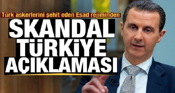 Son Dakika: 8 askeri şehit eden Esad iyice küstahlaştı! Türkiye'ye karşı büyük skandal