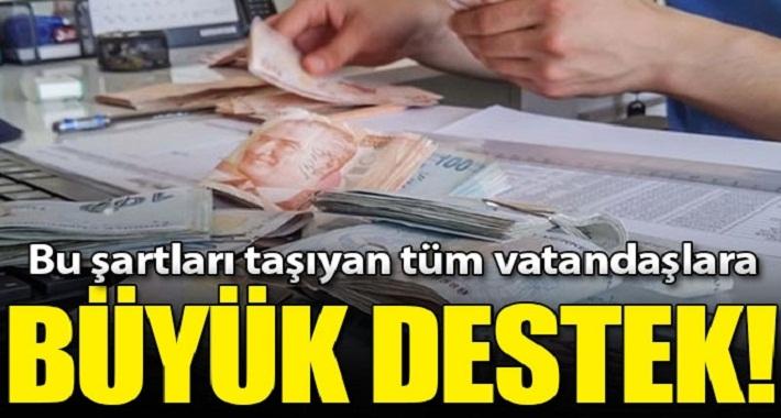 Milyonlarca dezavantajlı vatandaşa büyük destek! 55 milyar lira...