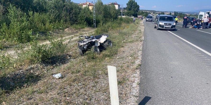 Kastamonu Tosya'da otomobil ile ATV çarpıştı: 1 ağır yaralı