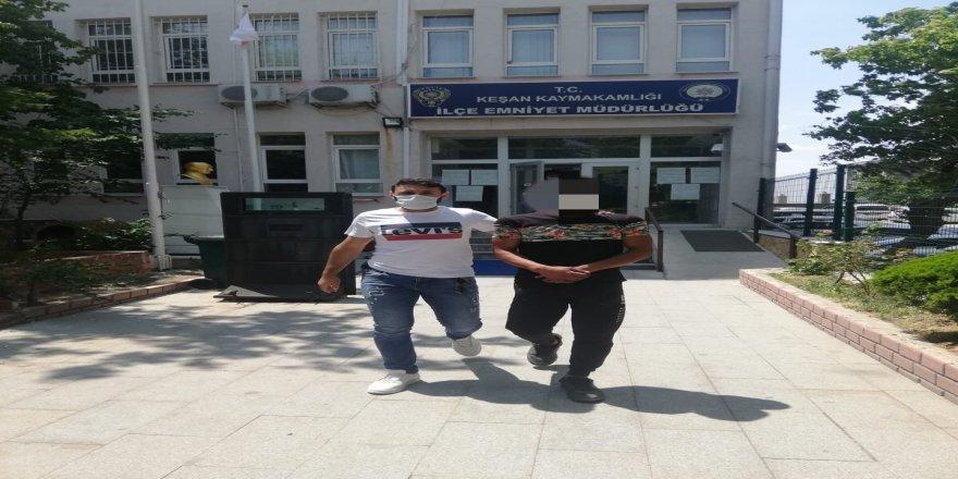 Edirne'de Okulun musluk bataryalarını çalan hırsız tutuklandı