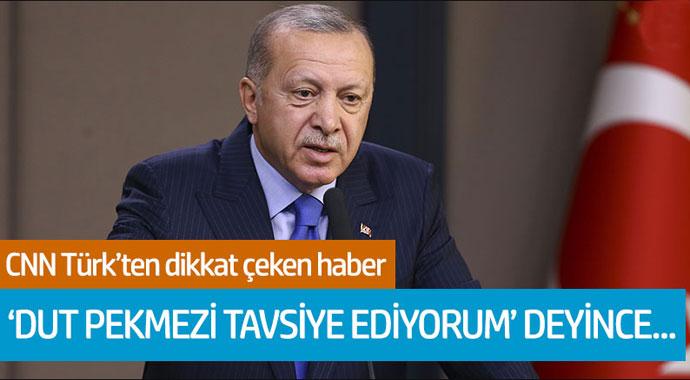 CNN Türk'ten dikkat çeken haber! 'Dut pekmezi tavsiye ediyorum' deyince...