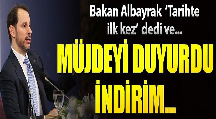 Hazine ve Maliye Bakanı Albayrak 'tarihte ilk kez' dedi ve müjdeyi duyurdu!