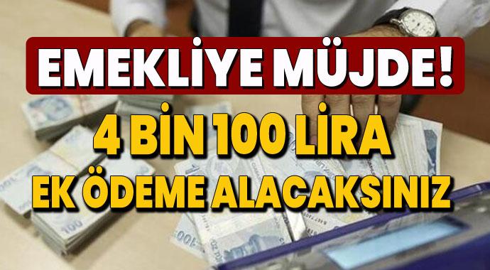 Emekliye SGK resmen duyurdu!  4 bin 100 lira ek ödeme!