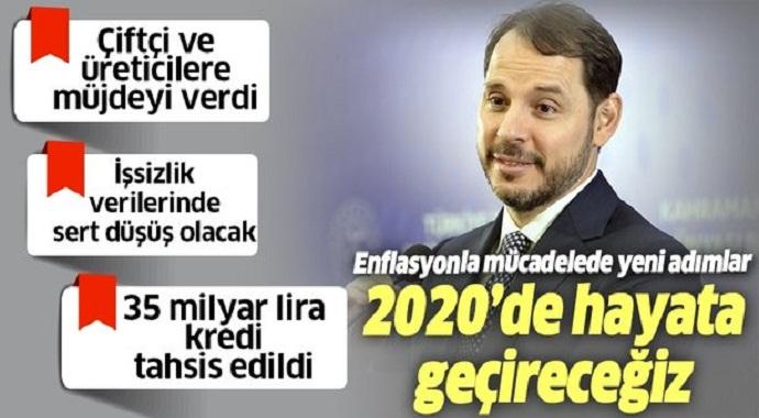 Maliye Bakanı Berat Albayrak'tan flaş enflasyonla mücadele mesajı