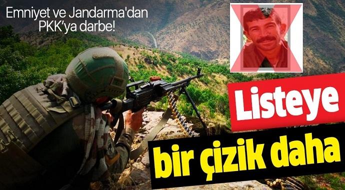Emniyet ve Jandarma'dan ortak operasyon! Gri Liste'deki terörist etkisiz hale getirildi.