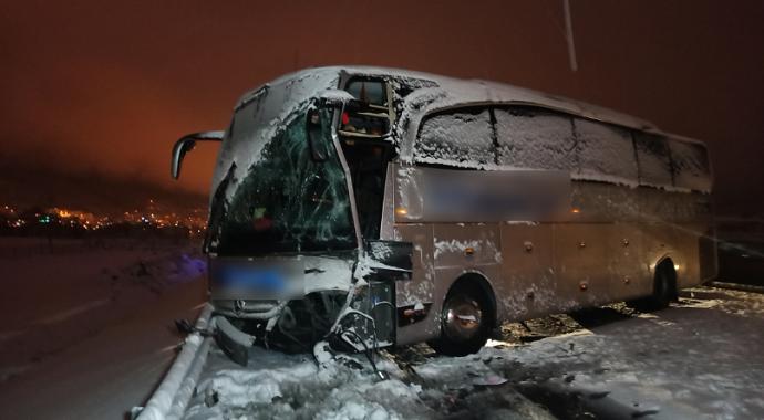 TEM'de zincirleme kaza: 1 yaralı