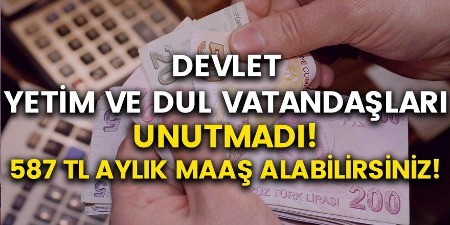 Dul ve Yetim vatandaşlara destek geldi! 587 TL Aylık maaş alabilirsiniz…