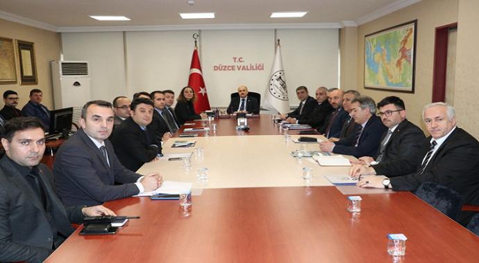 Üniversite Güvenlik Koordinasyon toplantısı yapıldı