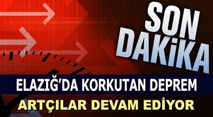 Elazığ'da 3.8 büyüklüğünde deprem!