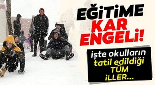 Yarın okullar tatil mi?  kar tatili olan iller açıklandı! İşte valilik tarafından eğitime ara verilen tüm iller…