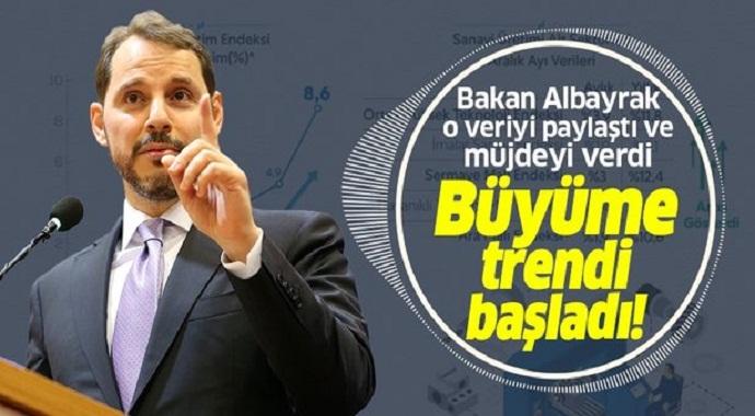 Berat Albayrak'tan flaş açıklama: Büyüme trendi başladı