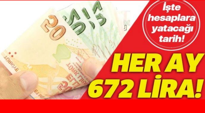 Hiçbir sosyal güvencesi olmayana her ay 672 lira!