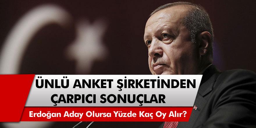 Ünlü anket şirketinden çarpıcı sonuçlar: Başkan Recep Tayyip Erdoğan tekrar aday olursa yüzde kaç oy alır?