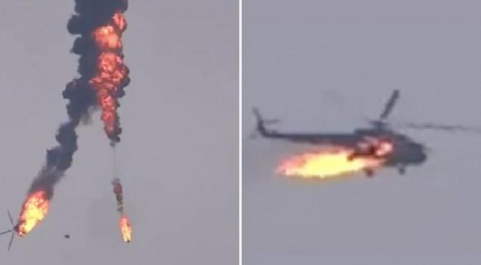 Halep'te Esad rejimine ait helikopter düşürüldü