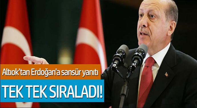 Zeynep Altıok'tan Erdoğan'a sansür yanıtı