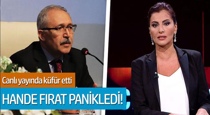 Abdülkadir Selvi canlı yayında küfür edince Hande Fırat panikledi