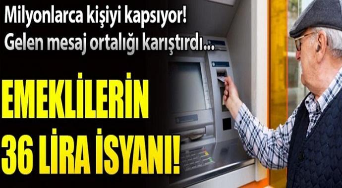 Emeklilerin 36 lira isyanı! SGK'dan açıklama var...
