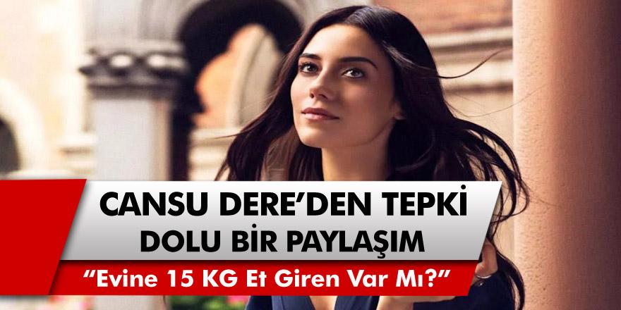 """Cansu Dere'den Tepki Dolu Paylaşım! """"Evine 15 KG Et Giren Var Mı?"""""""