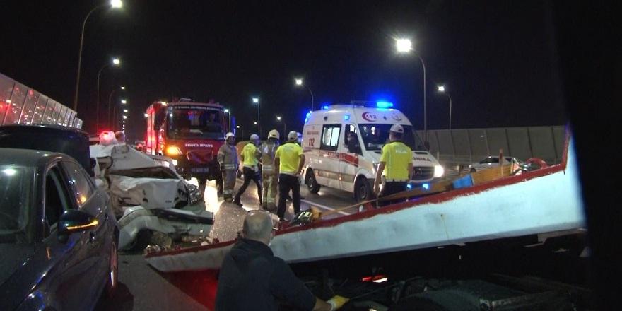 Haliç'te zincirleme trafik kazası:1 ağır yaralı