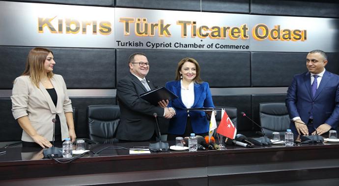 ULUSKON ile Kıbrıs Türk Ticaret Odası arasında iş birliği protokolü imzalandı