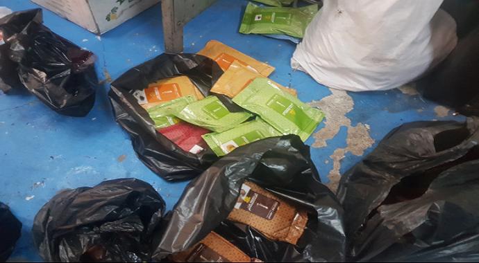 Başakşehir'de 500 bin TL'lik sahte nargile tütünü baskını